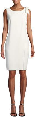 Karl Lagerfeld Paris Sleeveless Sheath Dress with Pearl Detailing