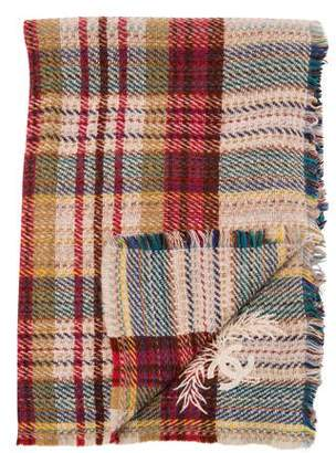 Chanel Plaid Wool Throw Blanket