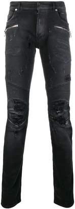 Balmain distressed skinny jeans