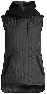 Eileen Fisher Women's Wool Hooded Vest