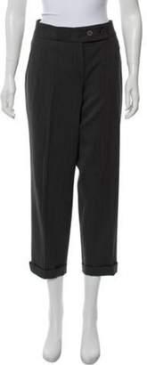 Gunex High-Rise Straight-Leg Pants Grey High-Rise Straight-Leg Pants