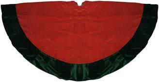 Northlight 60In Traditional Red & Green Velveteen Christmas Tree Skirt