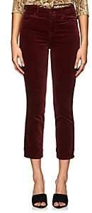 J Brand Women's Ruby Velvet High-Rise Jean - Wine