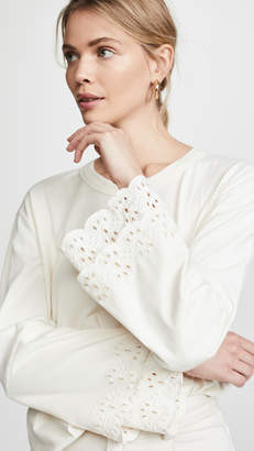 Madewell Eyelet Embroidered Tier Sleeve Tee