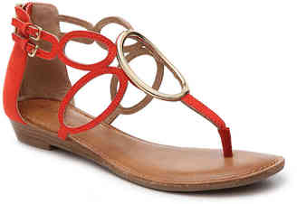 Women's Markah Flat Sandal -Taupe $80 thestylecure.com