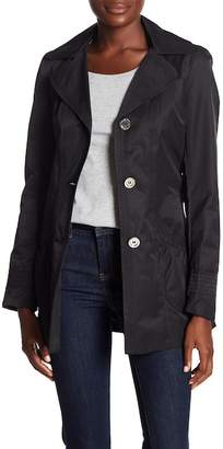Laundry by Shelli Segal Hooded Belted Trench Jacket