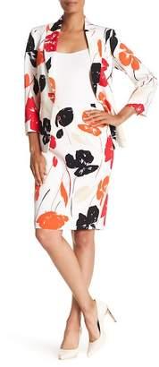 Kasper Valencia Floral Print Skirt