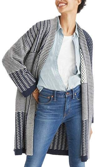Women's Madewell Patchwork Collage Cardigan