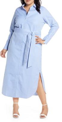 Rachel Roy Collection Stripe Maxi Shirtdress