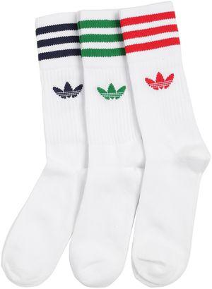 3 Pairs Logo Cotton Blend Crew Socks $16 thestylecure.com