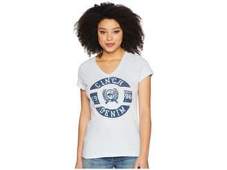 Cinch Cotton Jersey Short Sleeve V-Neck