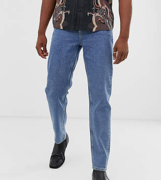 Asos Design DESIGN Tall high waisted jeans in vintage mid wash blue