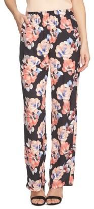 Women's Cece Floral Print Wide Leg Pants $89 thestylecure.com