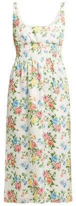 Emilia Wickstead Giovanna Floral Print Dress - Womens - Multi