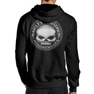 Harley-Davidson K321dsh21 Men's Hoodie Sweatshirt Skull Man Fashion Hoodie Hooded Sweater No Pocket 3D Print XXL