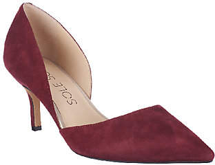 Sole Society Suede Mid-heel Pumps -Jenn