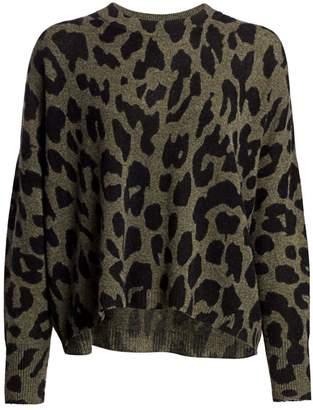 360 Cashmere Marsha Leopard-Print Cashmere Sweater