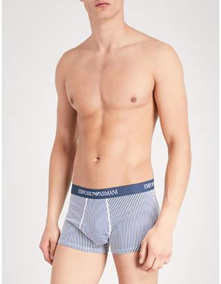 Emporio Armani Pack of three slim-fit stretch-cotton trunks