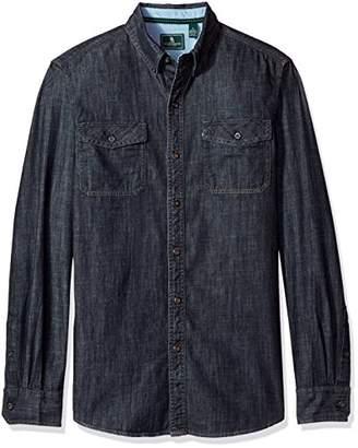 G.H. Bass & Co. Men's Essential Double Pocket Textured Long Sleeve Shirt