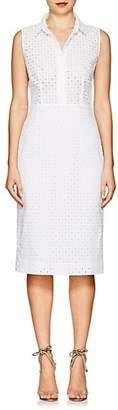Barneys New York Women's Cotton Eyelet Shirtdress - White