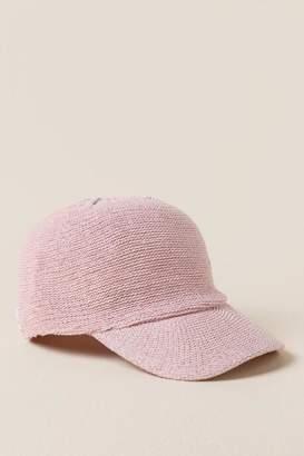francesca's Nova Chenille Baseball Hat - Olive