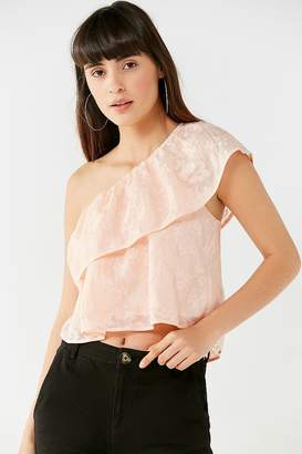 Urban Outfitters Ashley One-Shoulder Floral Top