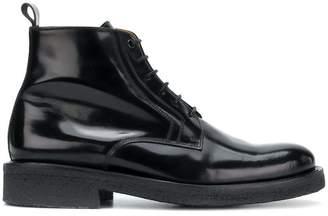 Ami Alexandre Mattiussi Laced Boots With Crepe Sole