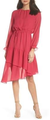 NSR Hadley Asymmetric Chiffon Dress