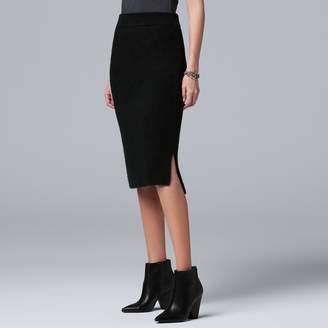 Vera Wang Women's Simply Vera Midi Sweater Skirt