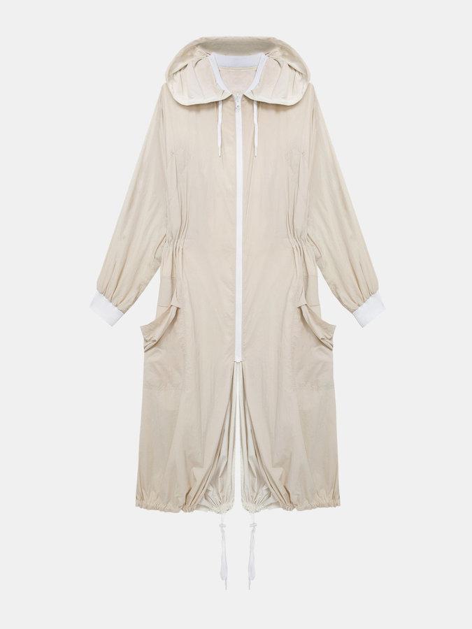DKNYDkny Pure Reversible Oversized Nylon Hooded Coat