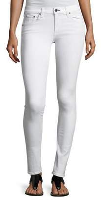 Rag & Bone Mid-Rise Skinny Denim Jeans, White