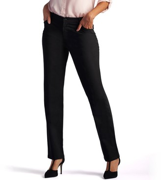 Lee Petite Relaxed Fit Straight Leg Twill Pants