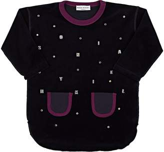 Sonia Rykiel KIDS' EMBELLISHED VELVET-KNIT DRESS