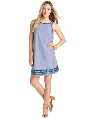 Vineyard Vines Geo Prep Embroidered Swing Dress