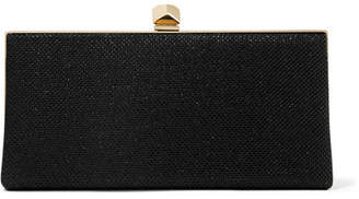 Celeste Glittered Canvas Clutch - Black