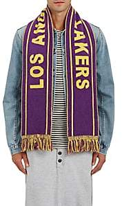 "The Elder Statesman X NBA X NBA MEN'S ""LOS ANGELES LAKERS"" CASHMERE SCARF-PURPLE"