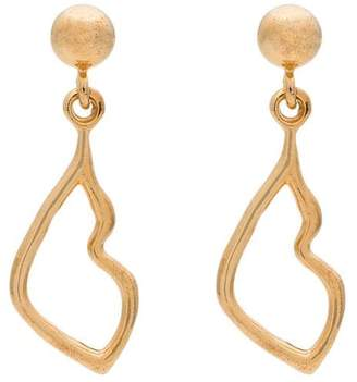 Holly Ryan gold-plated kiss drop earrings