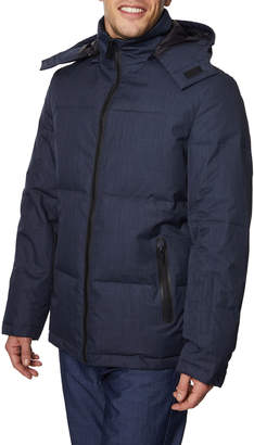 Tahari Mens Men's Puffer Jacket with Removable Hood