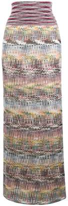 Missoni striped straight long skirt