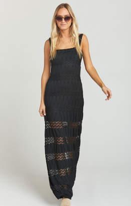 MUMU Harlowe Maxi Dress ~ Mademoiselle Lace Black