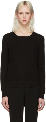 A.P.C. Black Tyler Sweater $250 thestylecure.com