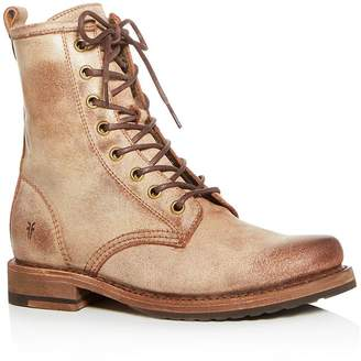 Frye Women's Veronica Distressed Combat Boots