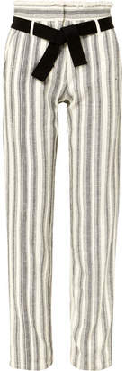Vanessa Bruno Iwen Belted Striped Cotton-canvas Straight-leg Pants - White
