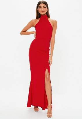 Missguided Petite Red Racer Back Maxi Dress