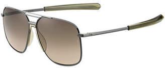 Rag & Bone Men's Rounded Metal & Acetate Navigator Sunglasses
