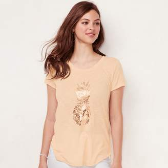 Lauren Conrad Women's Slubbed Graphic Tee