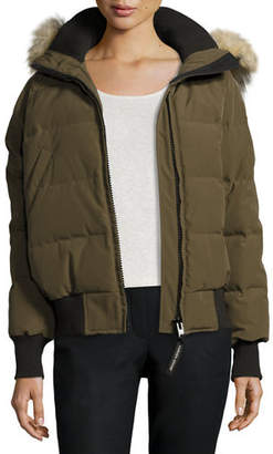 Canada Goose Savona Hooded Quilted Bomber Jacket