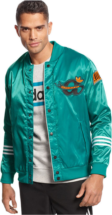 adidas Jacket, adi Originals Satin Varsity