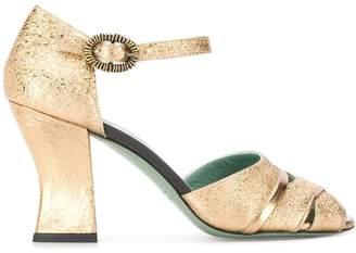 Paola D'Arcano metallic high-heeled sandals