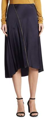 Donna Karan Women's Asymmetrical Pleated Skirt